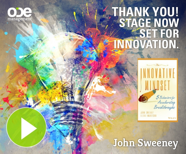 Thank You! The Stage is Now Set for Innovation...